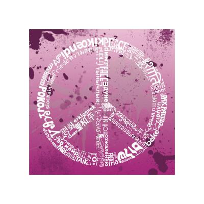 Peace (pink) Giclée-tryk