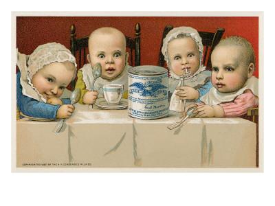 Crazed Babies with Condensed Milk Print