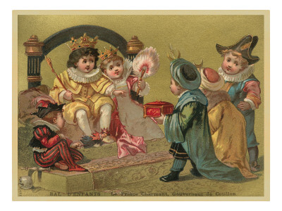Children Playing Royalty Premium Poster