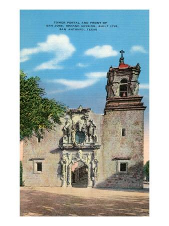 San Jose Mission, San Antonio, Texas Poster
