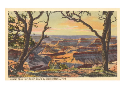 Soleil couchant depuis Hopi Point, Grand Canyon Premium Poster