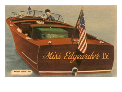 Speedboat with Skipper Prints