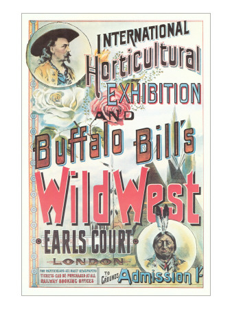 Buffalo Bill's Wild West Show Poster, England Prints