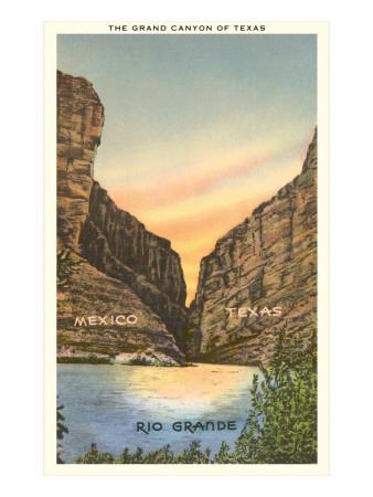 The Grand Canyon of Texas, Rio Grande Posters
