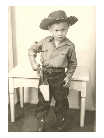 Little Cowboy with Six-Shooter Poster