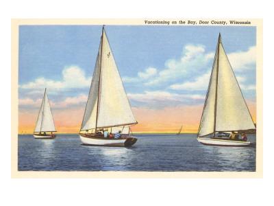Sailboats, Door County, Wisconsin Poster