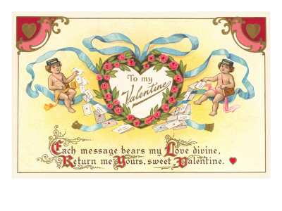 To My Valentine, Cupid Mailmen Prints