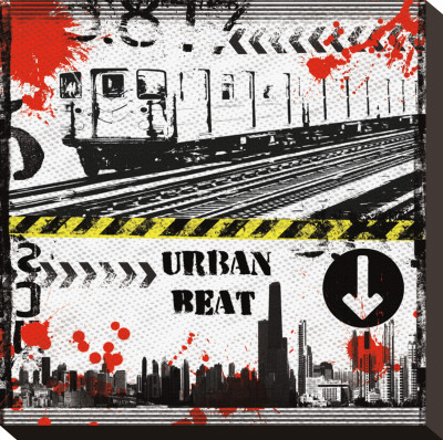 Urban Beat Stretched Canvas Print