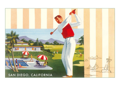 Golf Course and Resort, San Diego, California Prints
