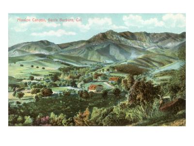 Mission Canyon, Santa Barbara, California Prints