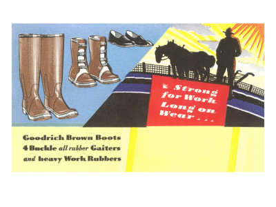 Work Boots and Gaiters Premium Poster
