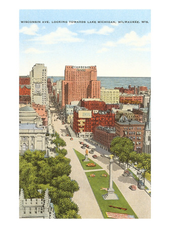 Wisconsin Avenue, Milwaukee, Wisconsin Premium Poster