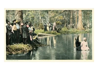 Baptism in the Lake Kunsttryk