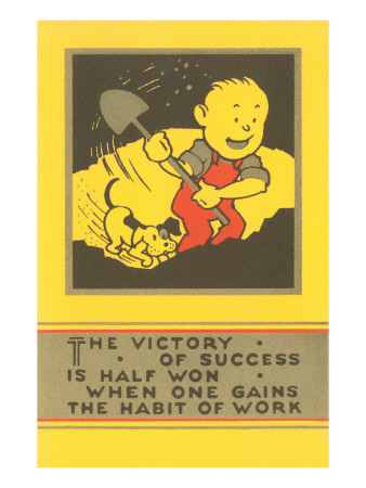 The Victory of Success, Work Premium Poster