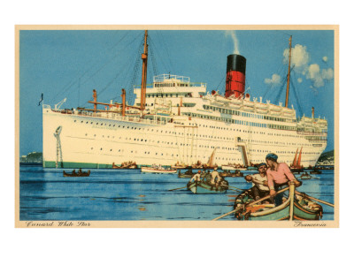 Cunard White Star Ocean Liner, Franconia Posters