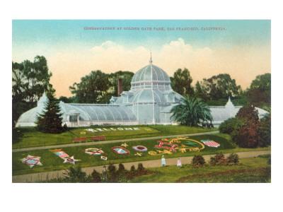 Conservatory at Golden Gate Park, San Francisco, California Prints