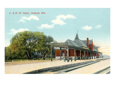 Train Station, Oshkosh, Wisconsin Prints