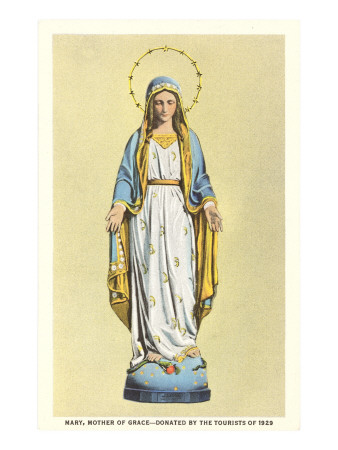 Statue of Virgin Mary Premium Poster