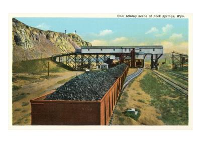 Coal Mining, Rock Springs, Wyoming Prints