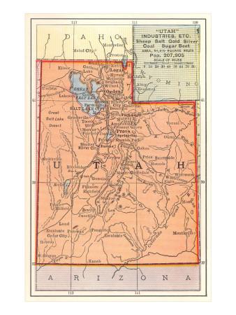 Map of Utah Posters