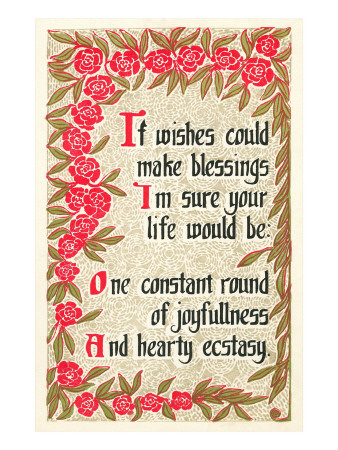 If Wishes Could Make Blessings, Rhyme Premium Poster