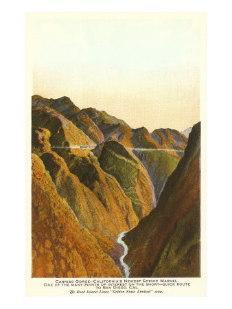 Carrizo Gorge, San Diego County, California Posters
