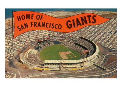 Candlestick Park, Giant's Pennant, San Francisco, California Prints