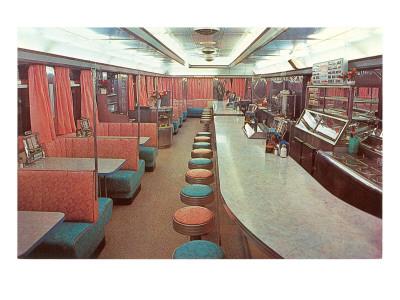 Interior, Retro Diner Lámina