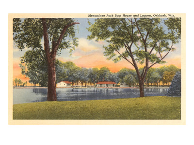 Menominee Park and Lagoon, Oshkosh, Wisconsin Posters