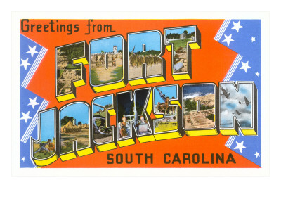 Greetings from Fort Jackson, South Carolina Premium Poster