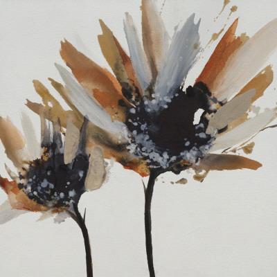 Sepia Bloom II Art by Lilian Scott
