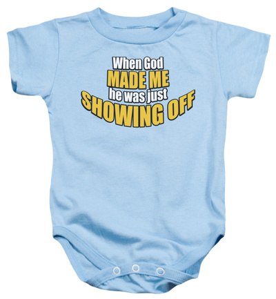 Infant: Showing Off Infant Onesie