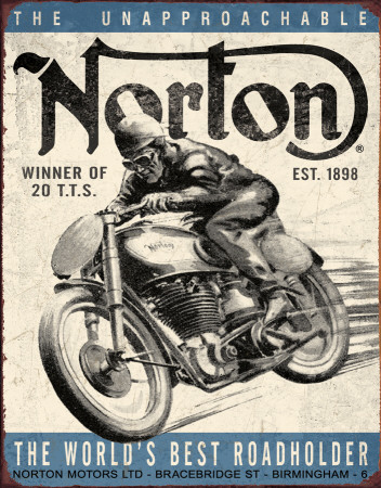 Norton - Winner Emaille bord
