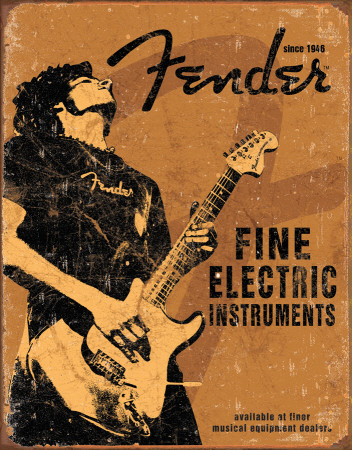 Fender - Rock On Tin Sign
