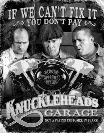 Stooges - Knuckleheads Pltskylt