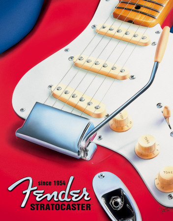 Fender - Strat since 1954 Placa de lata