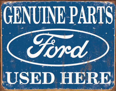 Ford Parts Used Here Plechová cedule