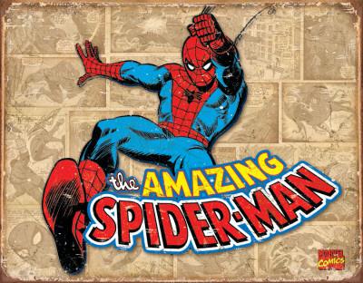 Spiderman Panels Tin Sign