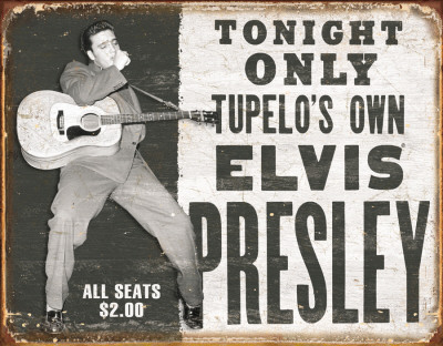 Elvis - Tupelo's Own Emaille bord