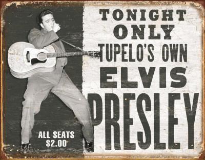Elvis - Tupelo's Own Blechschild