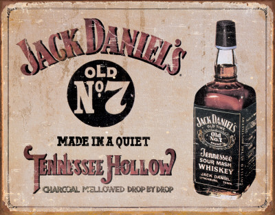 Jack Daniel's - Tennessee Hollow Plaque en mtal