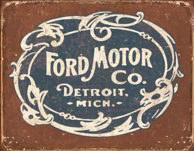 Ford Historic Logo Placa de lata