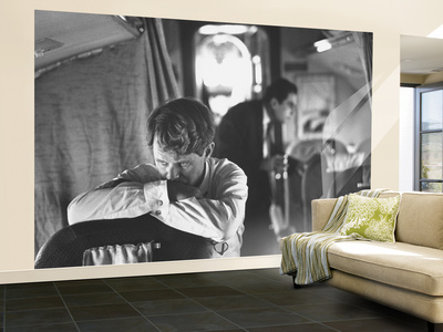 Thoughtful Senator Robert F. Kennedy on Airplane During Campaign Trip to Aid Local Candidates Wall Mural – Large