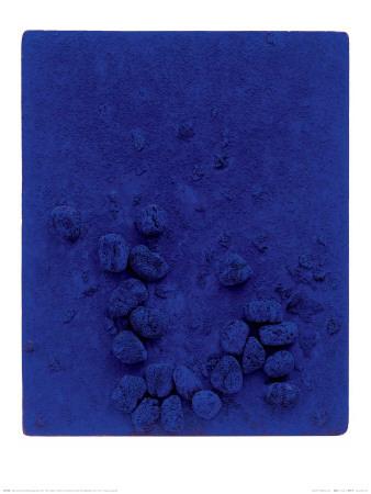 Blaues Schwammrelief (Relief Éponge Bleu: RE19), 1958 Plakater af Yves Klein