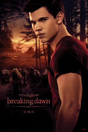 Twilight Breaking Dawn-Jacob and wolfpack Affiche