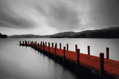 Wooden Landing Jetty-Red Plakat