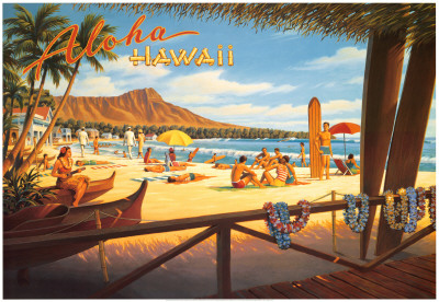 Aloha Hawaii Art Print