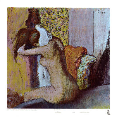After the Bath Art by Edgar Degas at AllPosters.