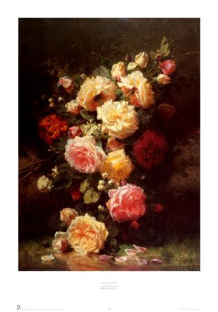 Bouquet de Roses Prints by Jean Baptiste Claude Robie