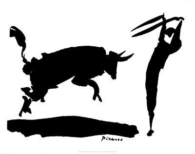 Stierengevecht III Posters van Pablo Picasso